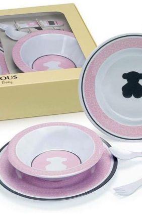 Vajilla de 5 piezas Tous Baby rosa