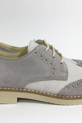 Zapato inglés gris Yowas