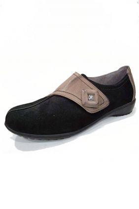 Zapato piel velcro-botón Aback (varios colores)