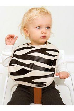 Babero Engomado Elodie zebra