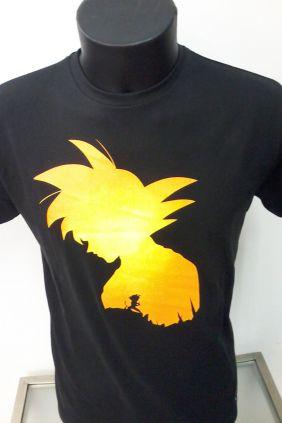 Camiseta Hombre Goku en Negro