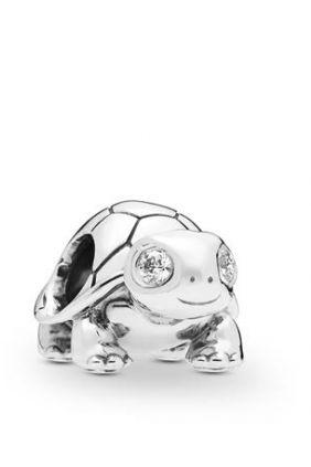 Pandora Charm plata tortuga brillante