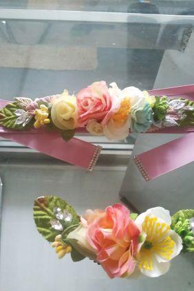 Cinturón ceremonia de flores