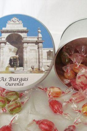 Para Regalar de Ourense - Lata redonda con caramelos foto As Burgas