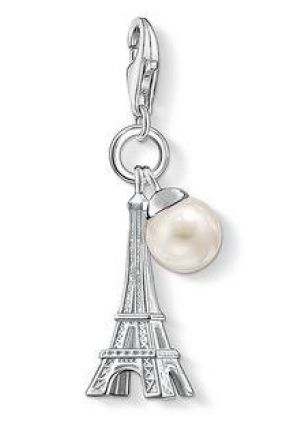 Charm torre eiffel con perla Thomas Sabo