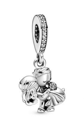 Pandora Charm colgante en plata de primera ley Recién Casados