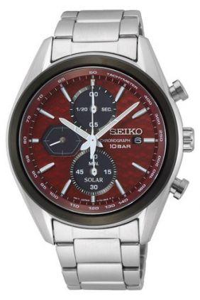 Reloj Seiko solar Panda Macchina Sportiva crono rojo