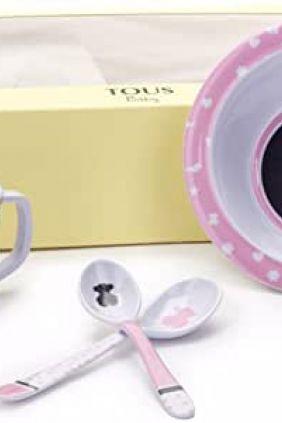 Set vajilla de bebé Tous Baby 4 piezas rosa