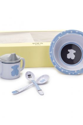 Set vajilla de bebé Tous Baby 4 piezas azul