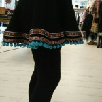 Falda negra estilo goyesco
