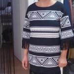 Vestido corto con mangas