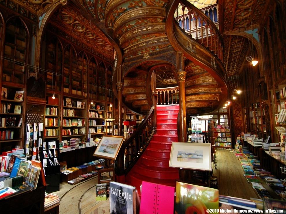Librería Lello e Irmão. Foto:Michał Huniewicz