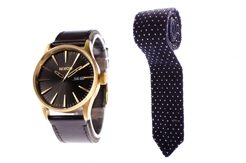 Reloj Nixon (Juvena). Corbata G-Star Raw (David)