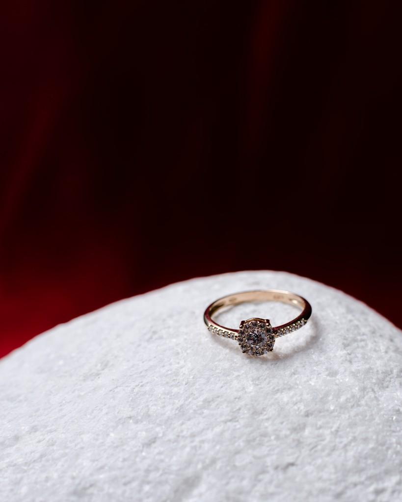 Oro rosa, art-decó con diamantes certificados. Joyería El Cronómetro