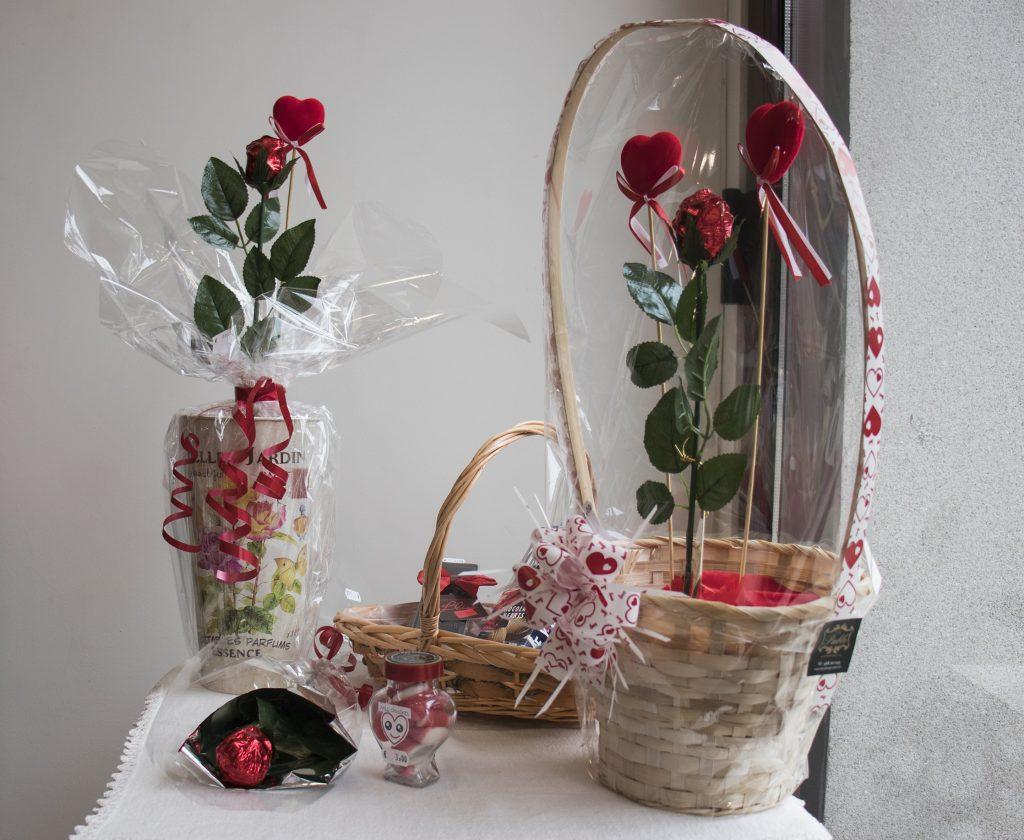 Rosas comestibles de chocolate San Valentín