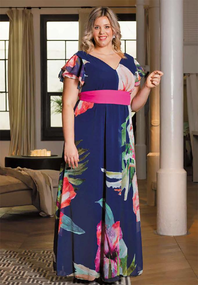 komodamoda, vestido largo azul