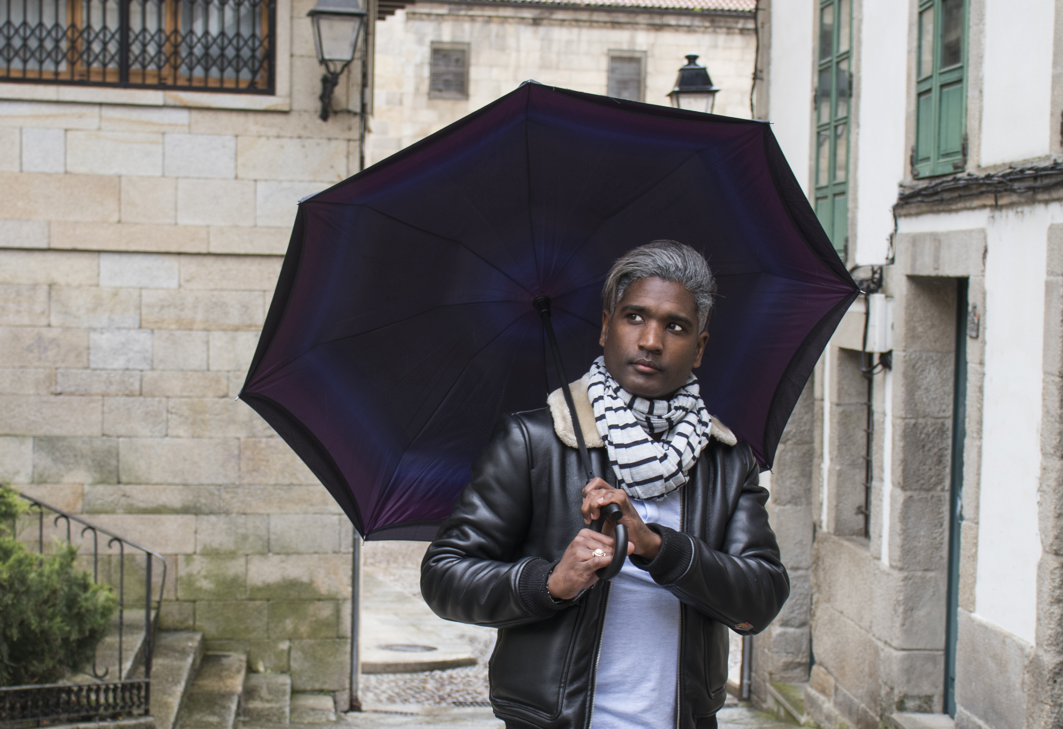 Paraguas reversible hiper 100