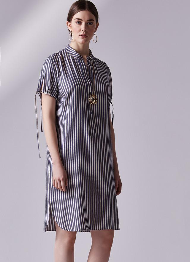 vestido rayas adolfo dominguez